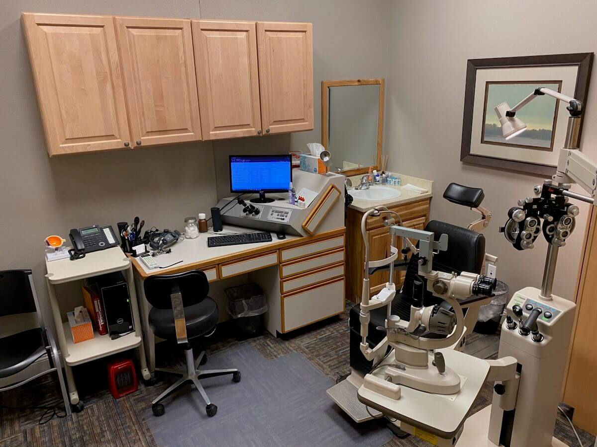 A Beartooth Vision Center Eye Exam Room