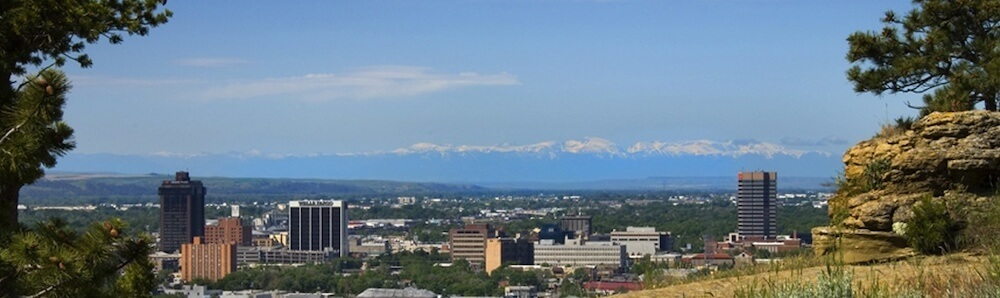 Billings Montana Downtown Skyline - Clear