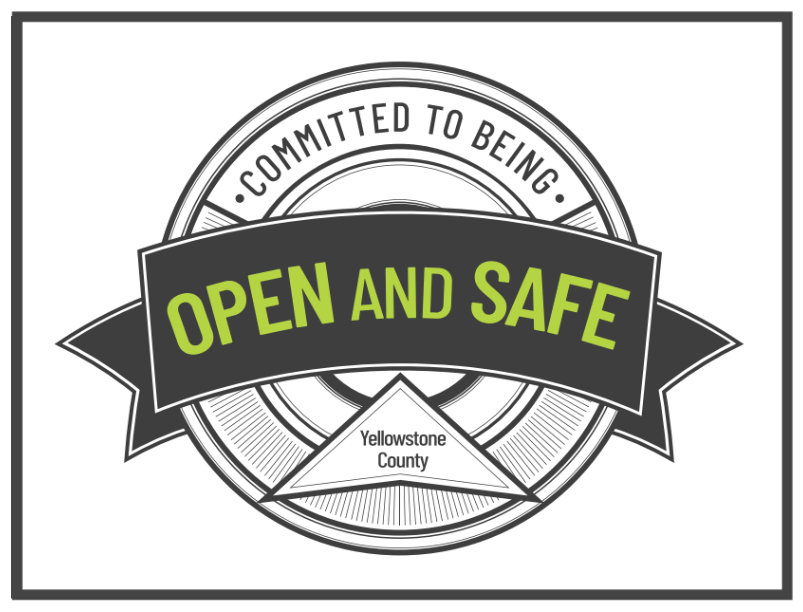 Open and Safe Montana Coronavirus Logo